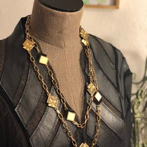 Tory Burch long gold necklace